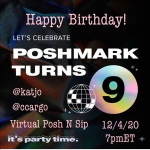 Other - Poshmark Turns 9 Virtual Posh 'n Sip!